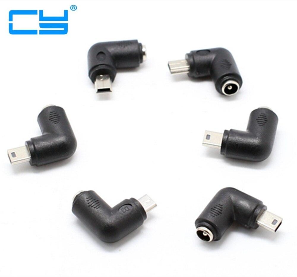 Conector de alimentación USB tipo c-5.5mm x 5,5mm direito mini, micro usb, adaptador de conexión de alimentación, 5 V DC, 2,1x2,1 metros