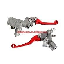 Czerwony główny cylinder sprzęgła hamulca dźwignia Honda CR125R CR250R CR500R CRF150R CRF250R CRF250X CRF450R CRF450X nowy