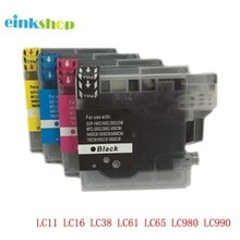 Conjunto do Cartucho De Tinta LC39 LC985 1 einkshop LC60 LC975 para Brother DCP J125 J315W J515W MFC J415W J615 J615W DCP-535CN impressora