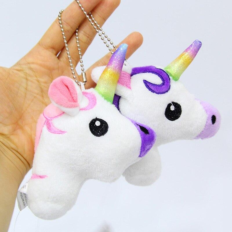 10 Uds 13cm Unicornio Animal de peluche de felpa juguetes llavero Animal relleno juguetes para bolsas de la Operación Licorne Unicornio de peluche chico Juguetes