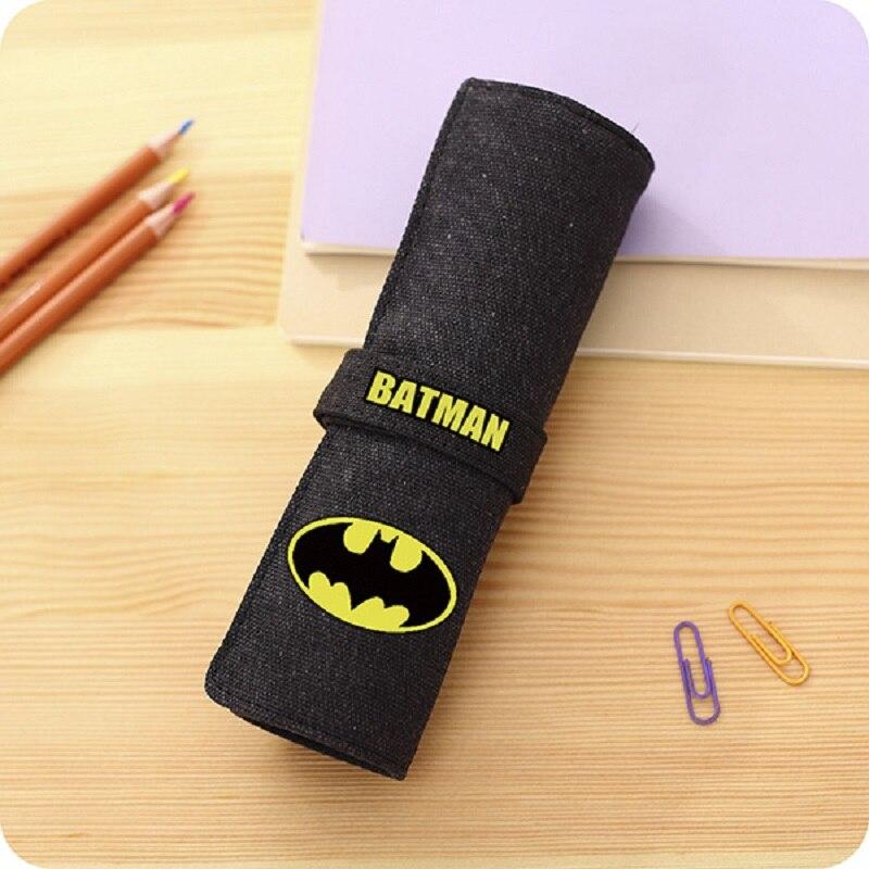 DC Comics Pen Saco do Lápis Lápis De Cor do Saco Saco de Super Heróis Da Liga Da Justiça Batman Superman Flash