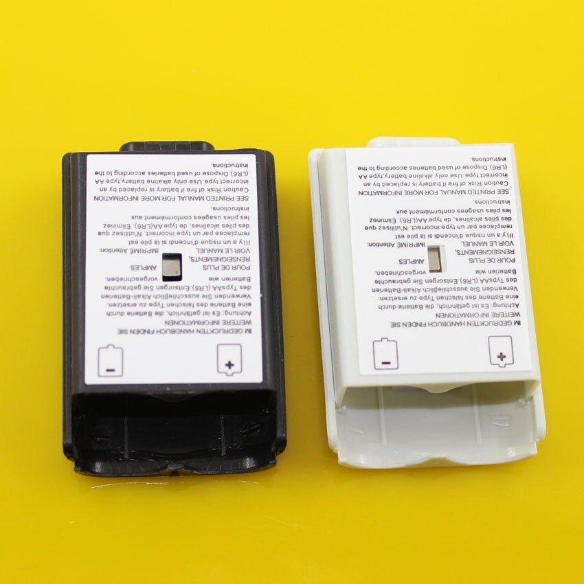 16 stücke Schwarz & weiß Batterie Fall Abdeckung Shell Für Xbox 360/xbox360 Wireless Controller Akku