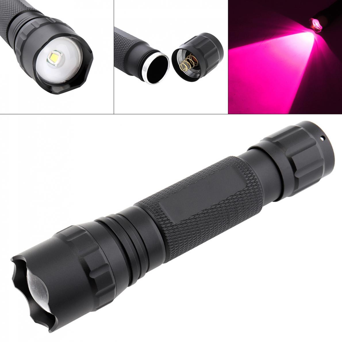 Linterna LED 2000LM 502B Mini LED infrarrojo IR 850nm visión nocturna Zoom linterna impermeable antorcha para la caza al aire libre Camping