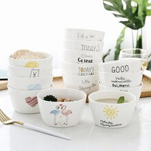 4.5 Inch 400ml Nordic Household Crockery Bowl of Japanese Rice Fruit Snack Bowls Cartoon Cute Bowl  Dinnerware