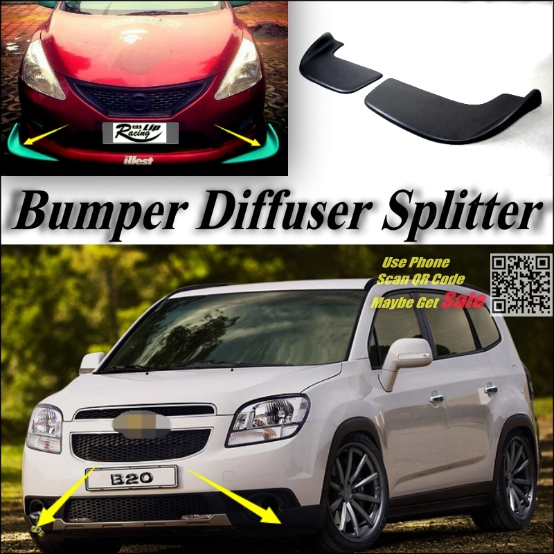 Difusor divisor para parachoques de coche, Canard Lip para Chevrolet Orlando, Kit de carrocería de puesta a punto, Deflector frontal, aleta para Barbilla, reducción de Chasis de coche