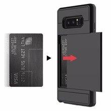 Porte-Cartes Étui Pour Samsung Galaxy S8 S9 Plus S7 S6 Bord A5 A3 2017 J5 J7 J3 2016 J2 Premier S5 Note 8 5 4 Housse