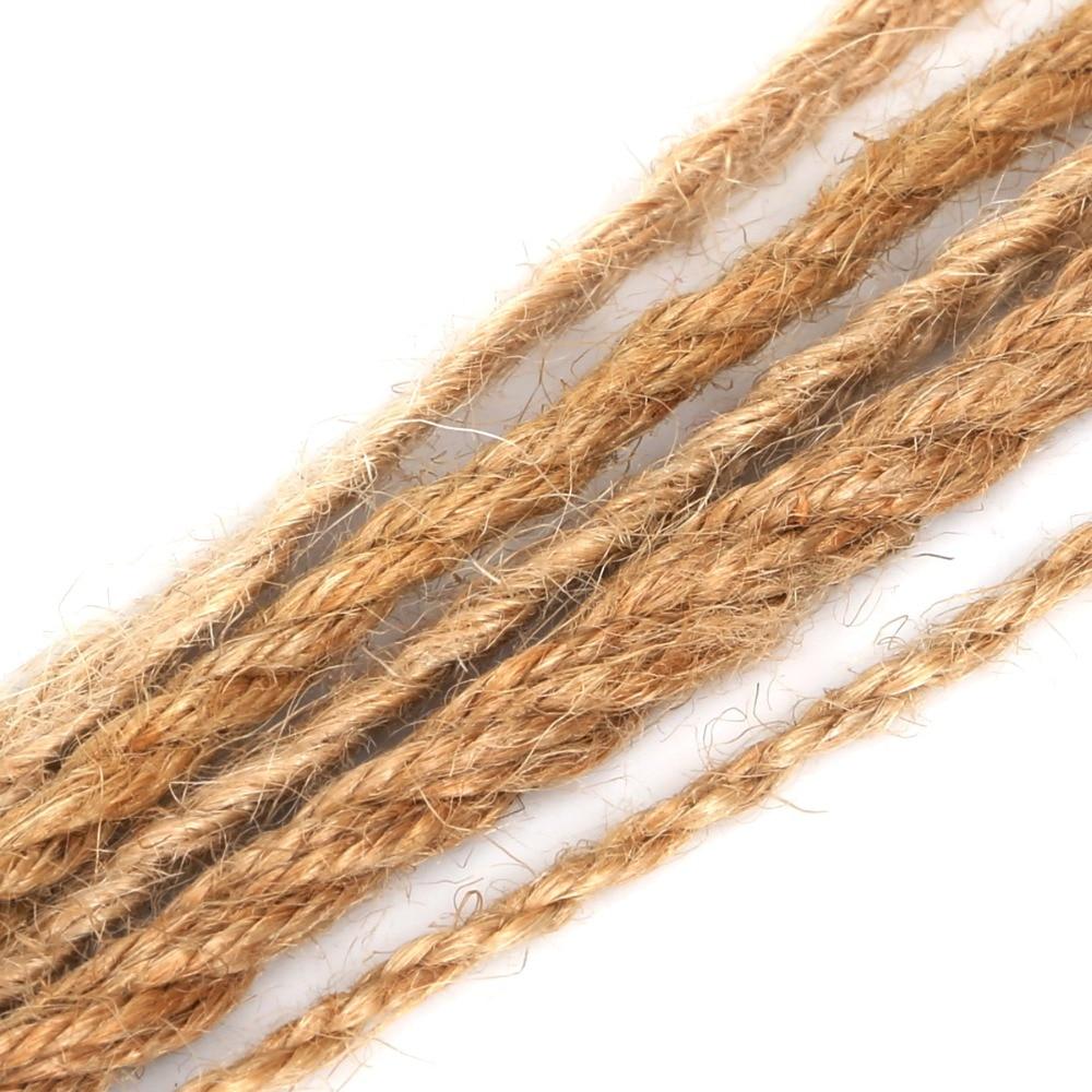 5 metros/lote de cuerda de arpillera Natural de 2/4/6mm, cuerda de cáñamo de hilo de yute para decoración Vintage rústica para boda, Material de embalaje para regalo