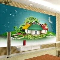 Beibehang     papier peint pour toile de fond 3d  grand papier peint photo  dessin anime  decoration de maison