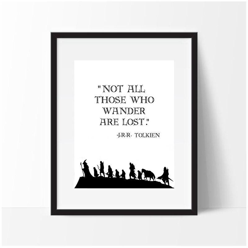 J. r. r. Tolkien citação arte da parede impressão em tela e cartaz, fantasia literatura impressão em tela imagem da parede arte decoração