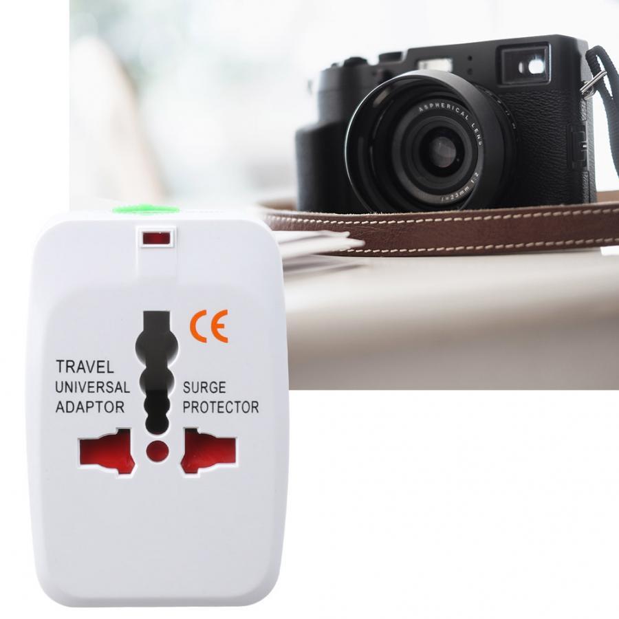 Adaptador de enchufe Universal en uno blanco multifuncional Universal de viaje enchufe USB cargador convertidor 0-250V 10A
