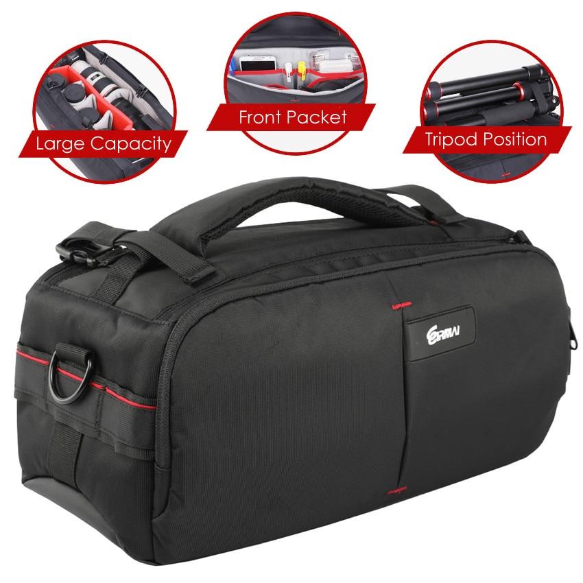 DSLR фото переноска через плечо нейлон водонепроницаемый w/дождевик камера штатив сумка ОБЪЕКТИВ мягкий чехол для Canon Nikon Sony SLR