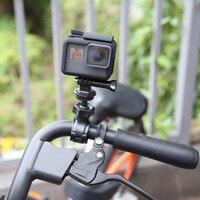 Крепление SHOOT O-образного зажима на руль для GoPro Hero 9, 8, 7, 6, 5, Black, Xiaomi Yi 4K, Sjcam Sj4000, Eken, велосипедные аксессуары для Go Pro 9
