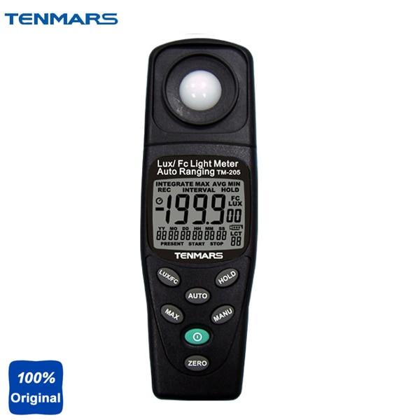 TM-205 السيارات تتراوح ضوء متر lcd لوكس متر luminometer ماكس/بيانات عقد
