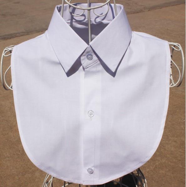 Jaderic 2018 New White & Black Blouse Detachable Collars Shirt False Collar Women Men Clothes Accessories
