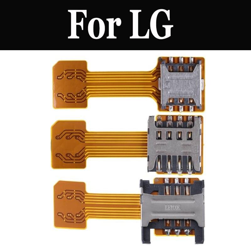Hybrid Doppel Dual SIM Karte Micro SD Adapter Extender Nano Für LG G5 G6 G7 fit G7 ThinQ K10 K3 LTE K5 K7 K8 K9 Q6 Q7 Q8 Stylus 3