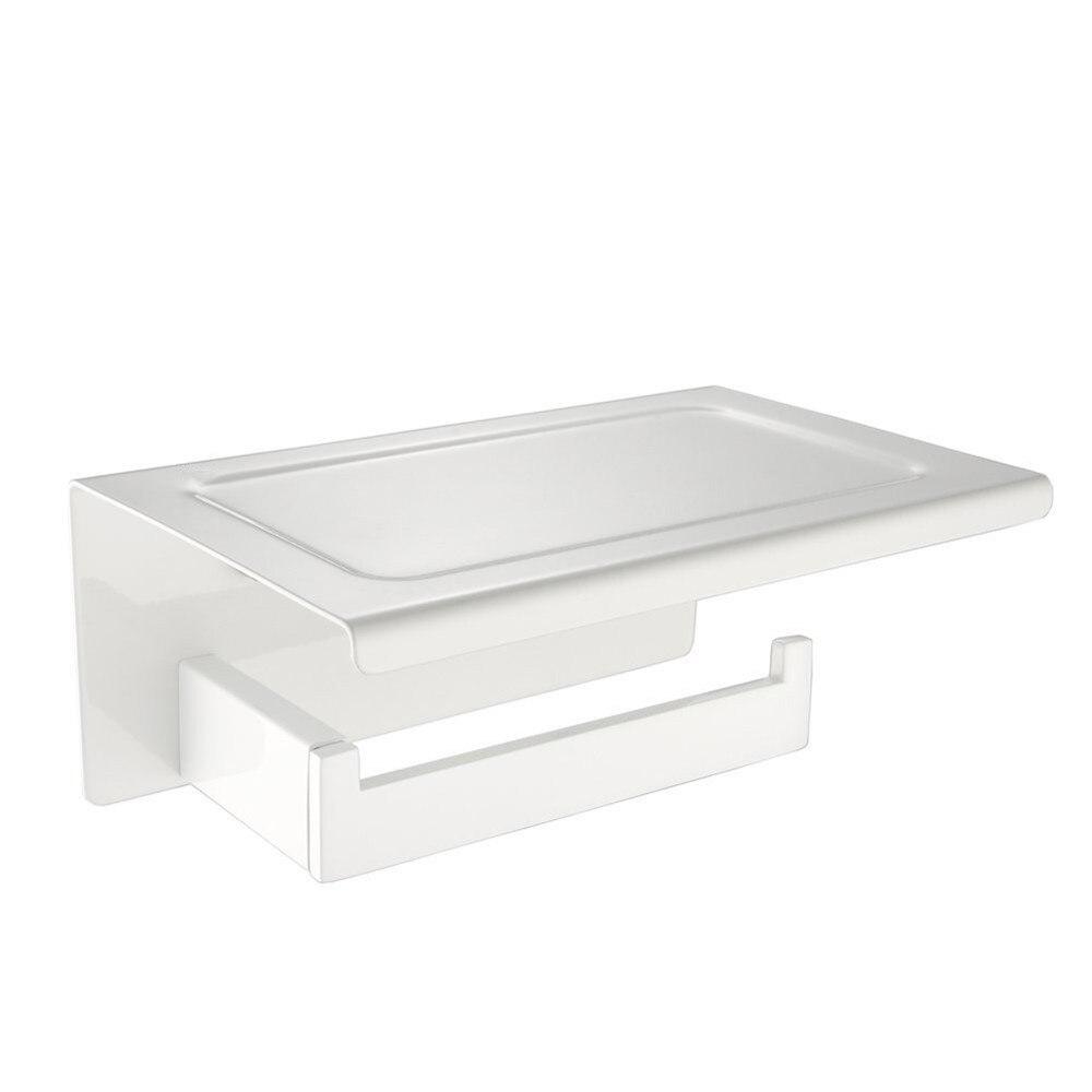 Leyden-حامل ورق التواليت من الفولاذ المقاوم للصدأ ، حامل ورق حائط أبيض عالي الجودة للحمام وإكسسوارات المرحاض