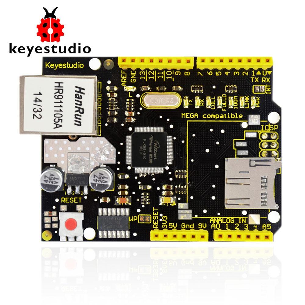 Новинка! Экран Keyestudio W5100 Ethernet для Arduino UN