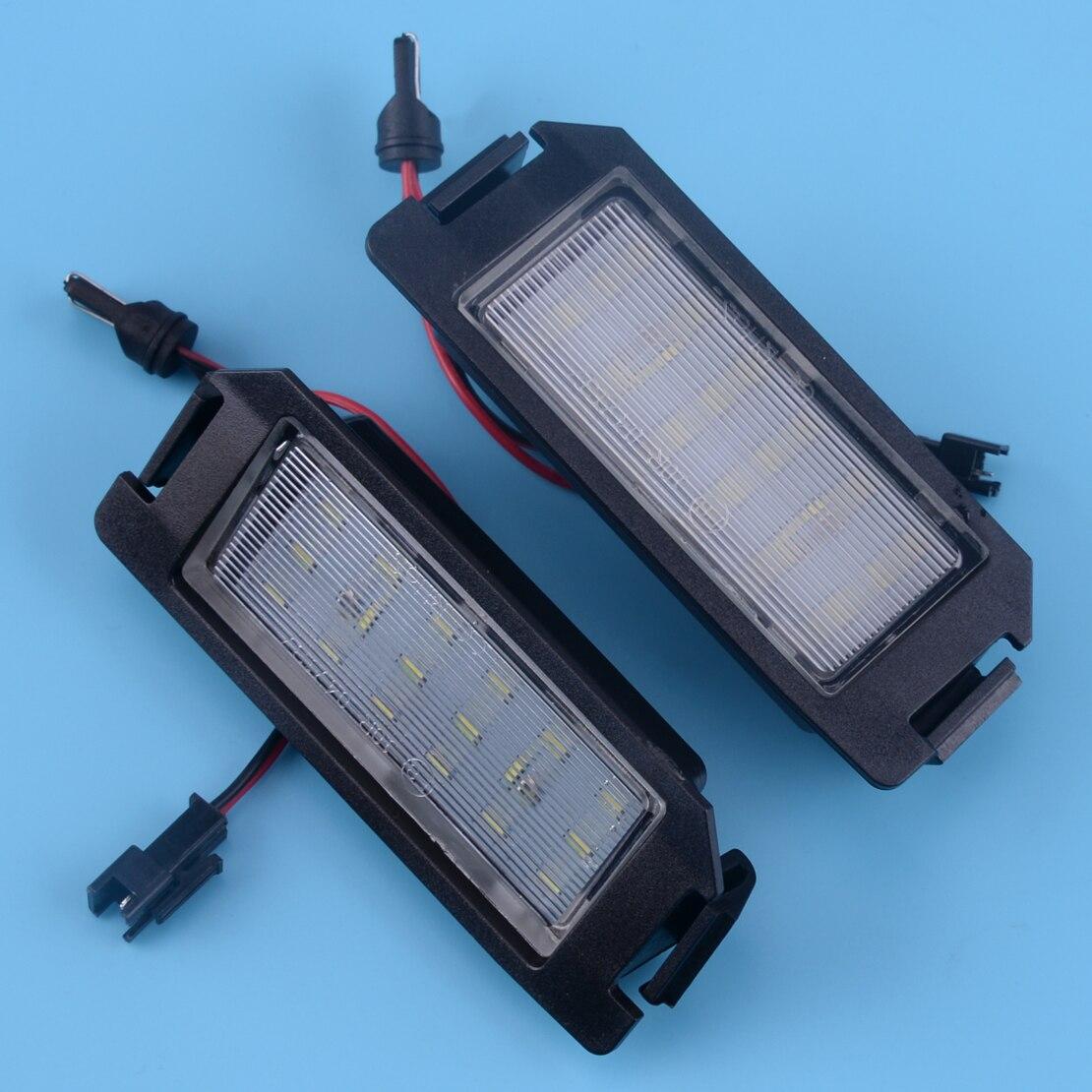 Beler 2 uds 2 Pin 18 LED para placa de matrícula de la lámpara de la luz para Hyundai I20 HEV FS XG30 Terracan HP Coupe GK Accesorios