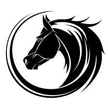 14*12.2CM créatif Arc cheval tête de voiture style pare-chocs autocollant personnalité voiture autocollant noir/argent S1-2016