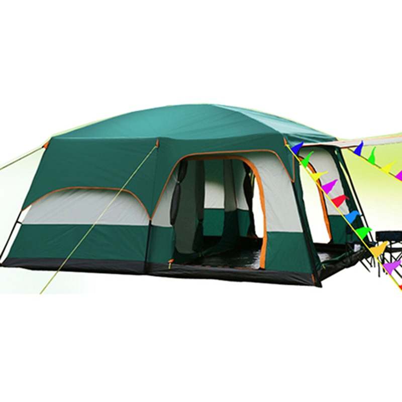 Desert Camel 5-8 Person Use Double Layer Windproof Waterproof Camping Tent Beach Tent Barraca Carpas De Camping