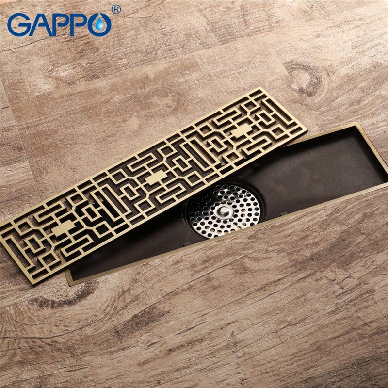 GAPPO-مصارف أرضية الحمام المستطيلة ، غطاء أرضي للحمام ، دش ، مضاد للرائحة ، تصريف النفايات
