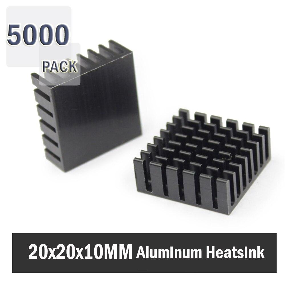 5000 piezas 80mm 80 20x20x10mm 20mm 10mm disipador de calor de aluminio para computadora Xbox360 PS VGA disipadores de calor de la memoria del vídeo de la tarjeta gráfica