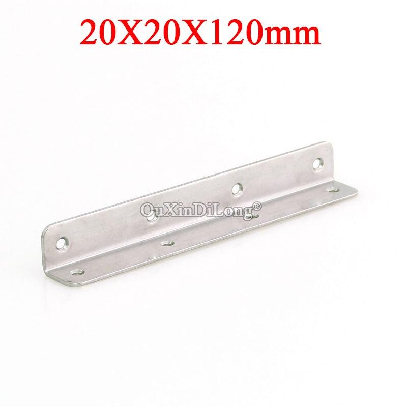 دعامة زاوية للأثاث من الفولاذ المقاوم للصدأ ، دعم لوحة إطار 90 درجة L ، تركيبات توصيل الأثاث ، 24 قطعة