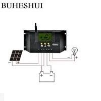 BUHESHUI Solar Panel Controller LCD Charger Controller Solar Regulator Power System 30A 12V/24V 360W 720W CM3024