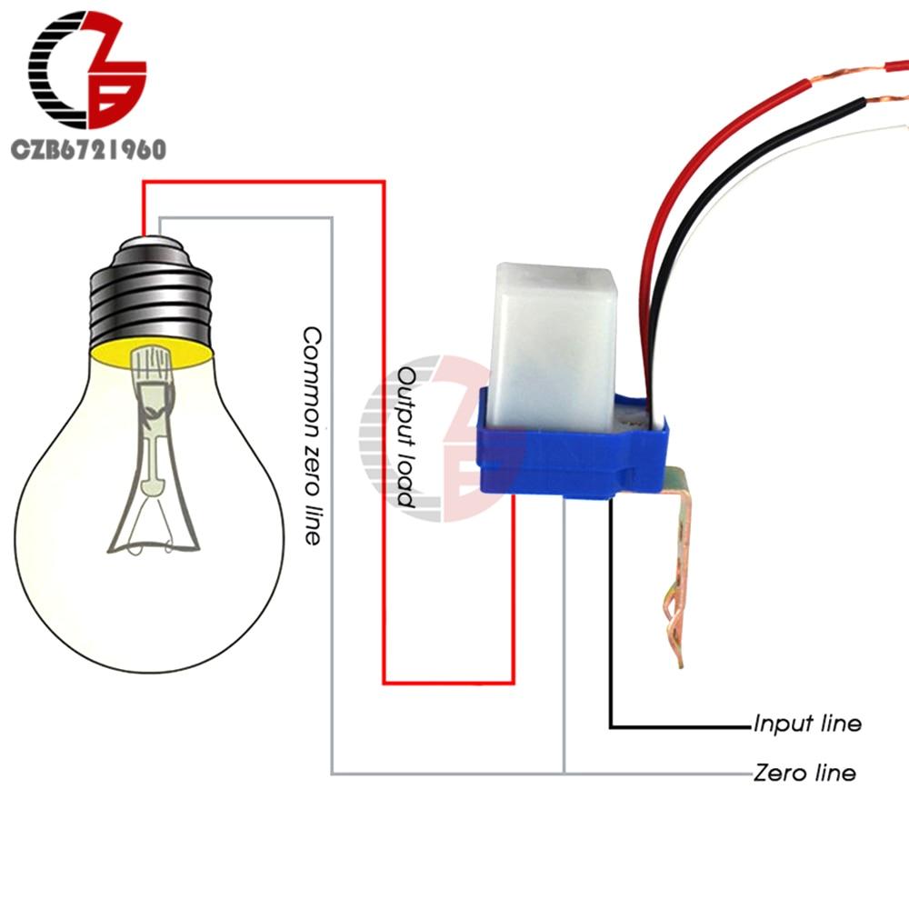 Interruptor automático de luz de calle fotocélula automática de CA 220V cc 12V 24V interruptor de luz de calle 10A Sensor fotoswitch interruptor de luz de Control