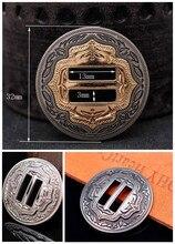 "6X Western Cowboy Antike Splitter/Gold Sättel Tack Kopfstück Zaum Leathercraft Metall Schlitz Conchos Gürtel Hardware 1-1/4"""