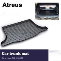 atreus car accessories trunk mat tray floor carpet pad waterproof anti slip for nissan tiida 2016 2017 2018