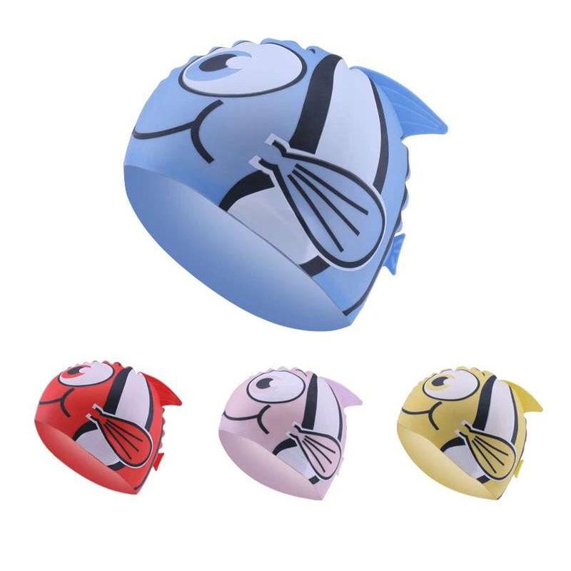 Gorro de natación con protección para la oreja para niños y niñas,...