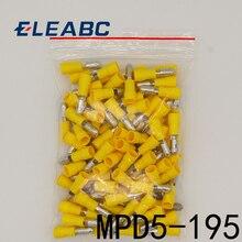 MPD5.5-195 MPD5-195 100 pièces balle en forme de mâle isolant Joint connecteur de fil électrique sertissage Terminal AWG12-10 MPD