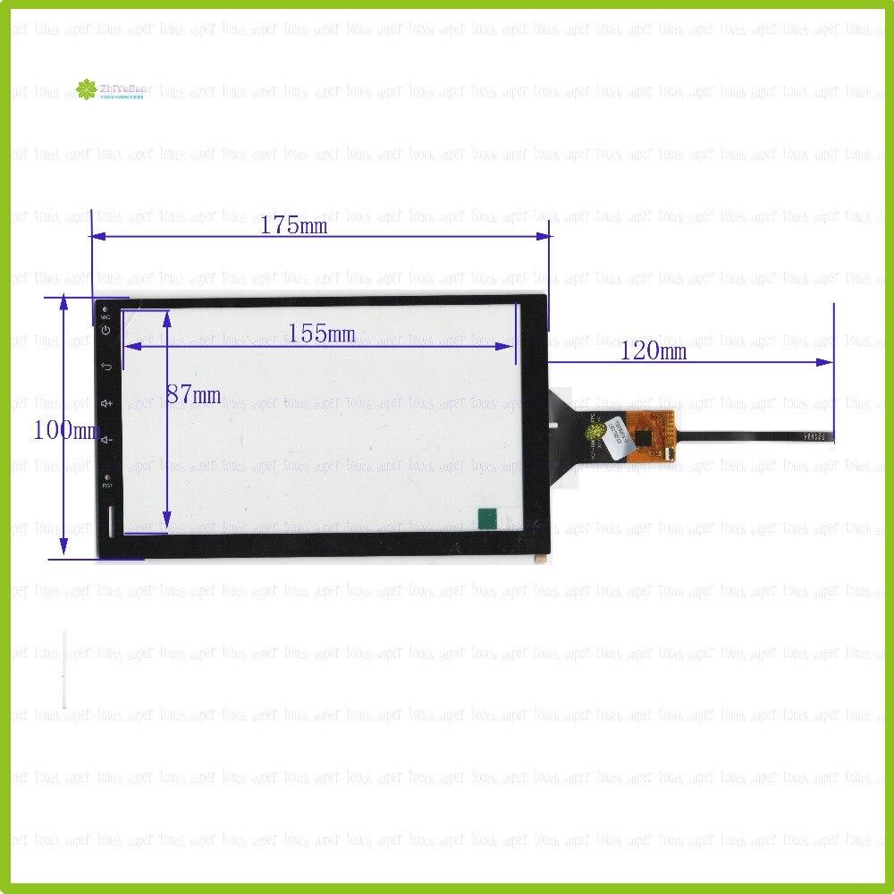 ZhiYuSun YDT-8088-01-FPC 7-дюймовый емкостный экран для GPS автомобиля 175 мм * 100 мм Сенсорное стекло YDT-8088-01-FPC
