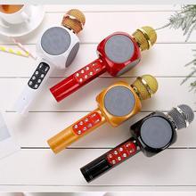 WS1816 mode KTV portable sans fil Microphone haut-parleur réverbération condensateur vocal karaoké enregistrement son Surround en direct