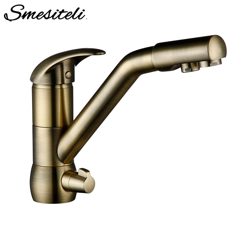 Smesiteli Kitchen Faucets Bronze Ceramic Filter Tap Hot and Cold Water Solid Brass Sink Mixer