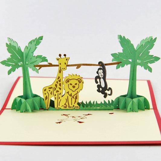 Zoológico feliz TARJETA DE feliz cumpleaños, tarjeta de Arca de Noé de tarjeta de bebé animales de Zoo tarjeta