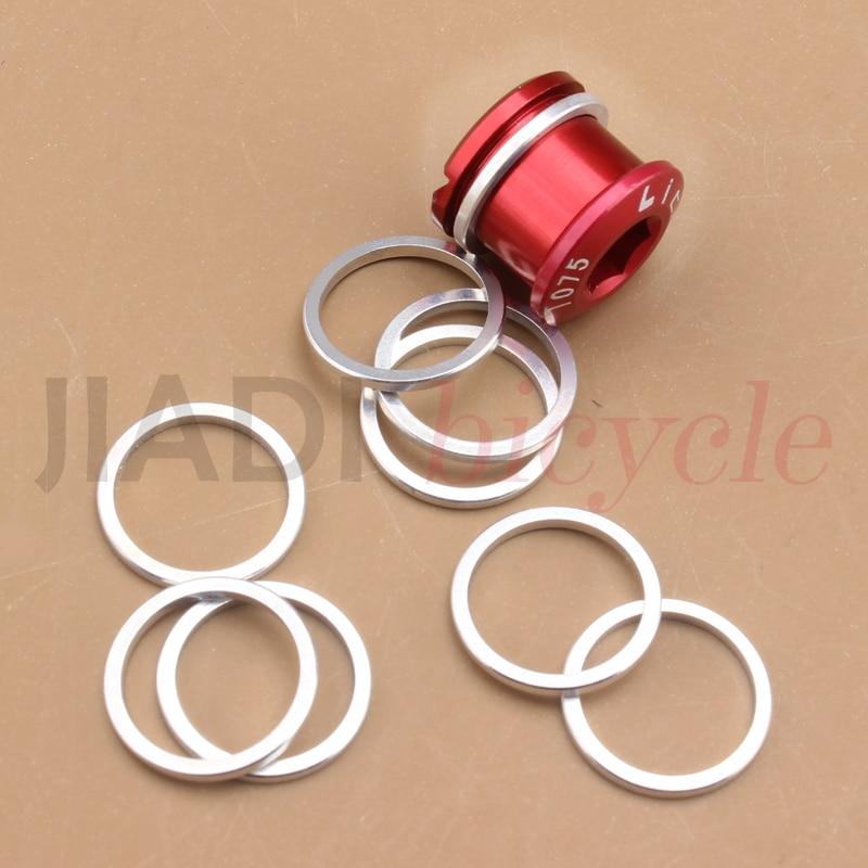 Muqzi 20 pçs parafusos da roda de corrente da bicicleta arruela gaxeta 1mm grosso ciclismo duplo mudança único parafuso do virabrequim arruela anel parte