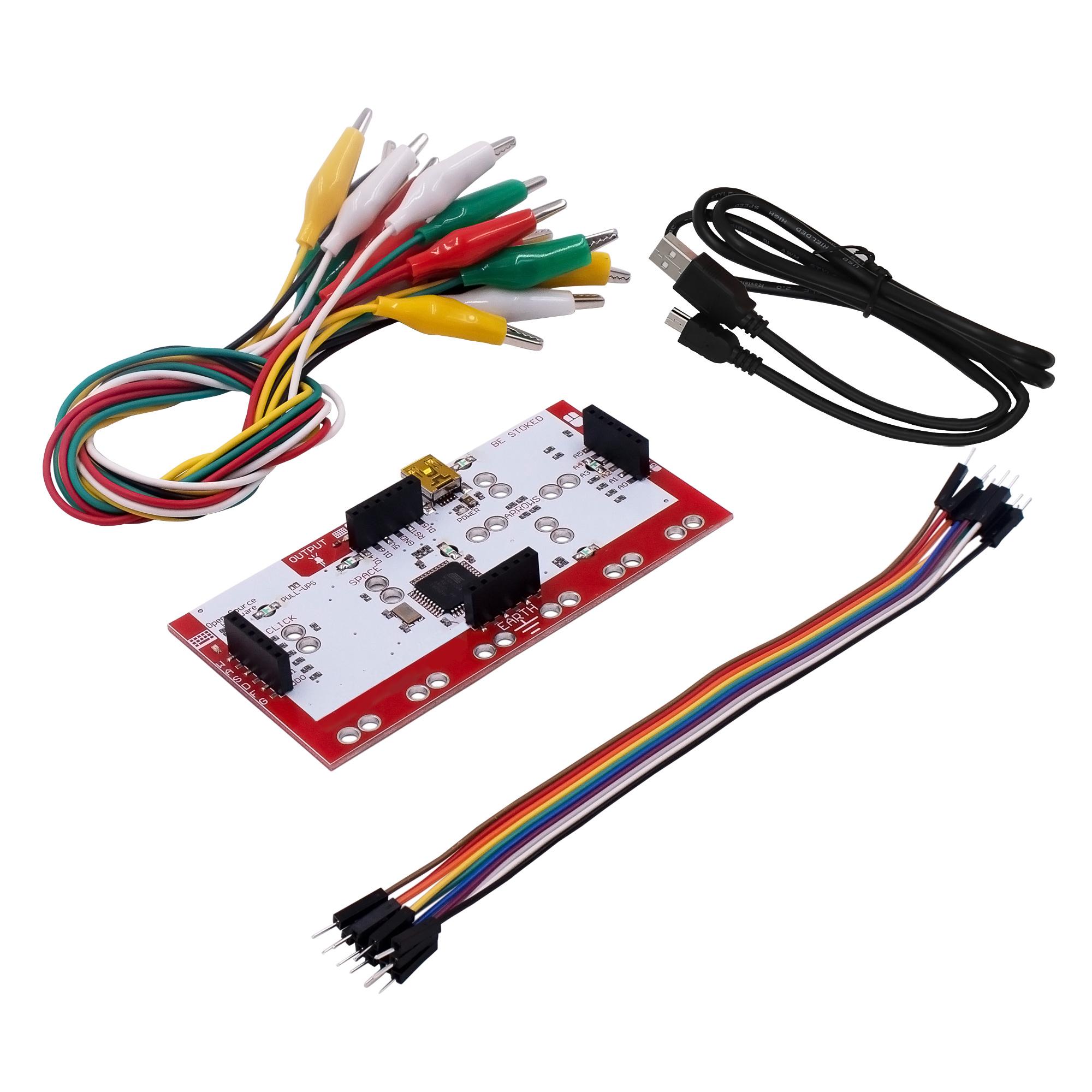 Alligator Clip Jumper Wire + Standard Controller Board DIY Kit + USB Cable for Makey, UNO R3, Mega 2650, Nano for Child's Gift