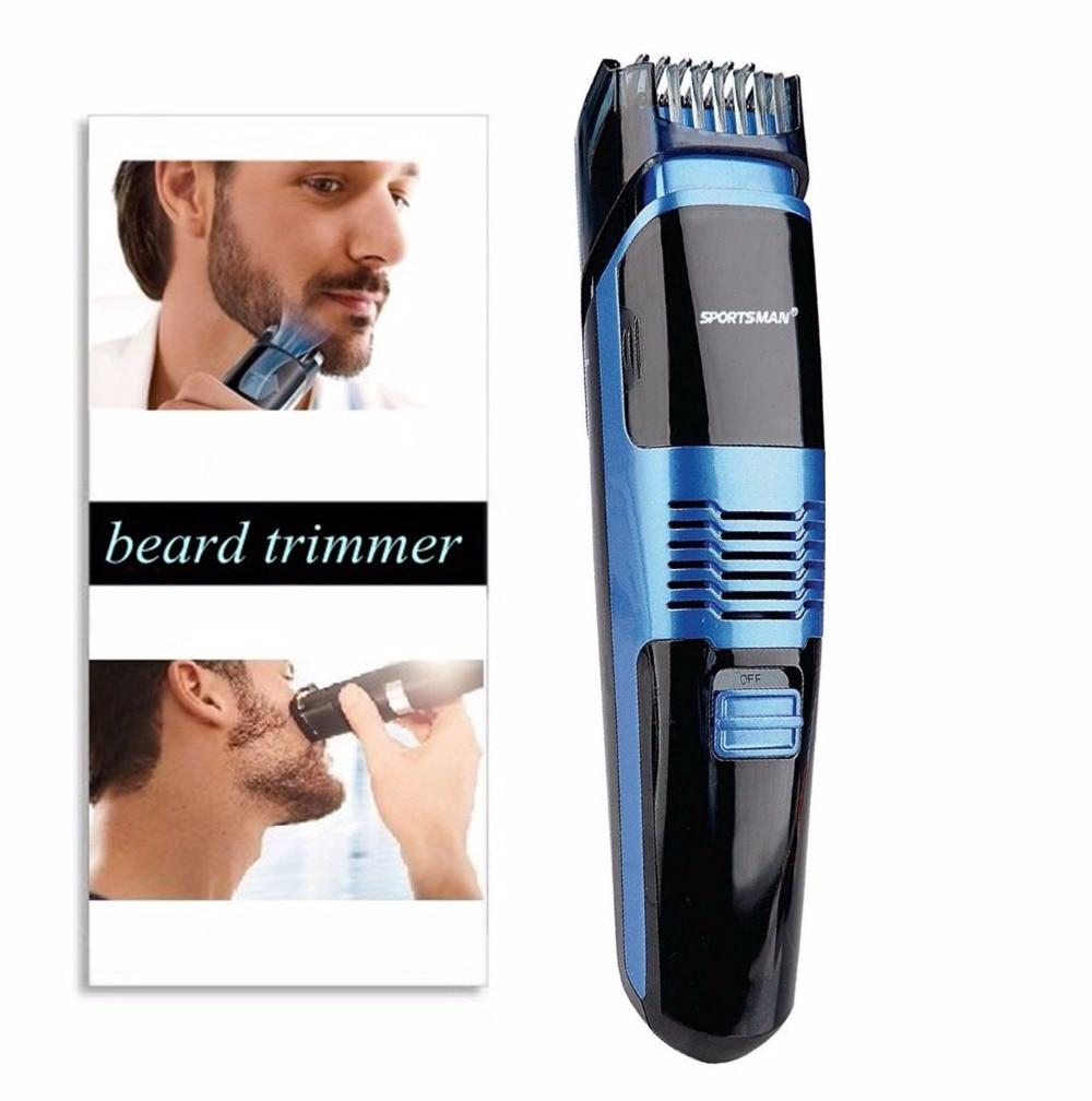 Профессиональный вакуумный триммер для бороды для мужчин, тример для волос, инструмент для формирования усов, электрическая бритвенная головка для лица, резак 0,5-18 мм