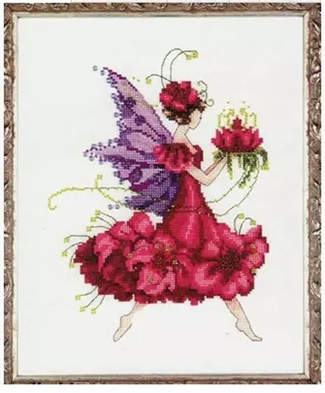 Needlework,DIY Cross Stitch,Sets For Embroidery kits,14CT&16CT&18CT,Geranium fairy