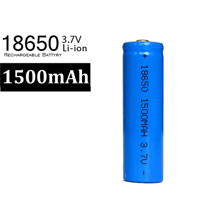 2017 Nuevo 10X18650 batería azul 1500mah 3,7 v Li ion recargable 18650 batería de iones de litio