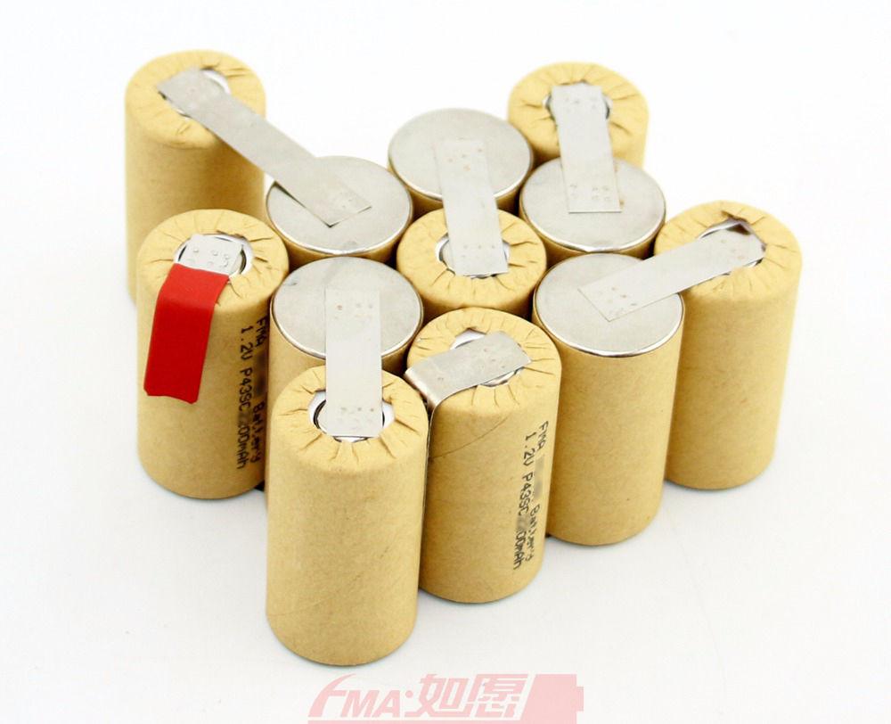 Batería recargable ni-cd Sub C 14,4 V 1200 1500 1800mAH para herramientas eléctricas, batería de taladro portátil 12SN P89