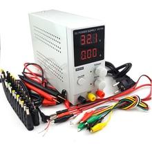 Mini-110 numérique réglable DC   0 ~ 30V 0 ~ 10A, 220V-0.1V, alimentation électrique de commutation V/0,01a + DC, Jack + stylo de Test