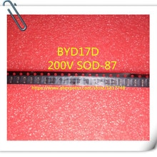Free Shipping 50PCS/LOT Brand new imported BYD17, BYD17D, 200V, SOD-87 Rectifier diode