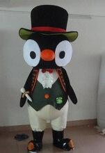 Direct usine!! nouveau pingouin noir avec de grands yeux blancs dessin animé déguisement Costume Costume Animal mascotte Costume livraison gratuite