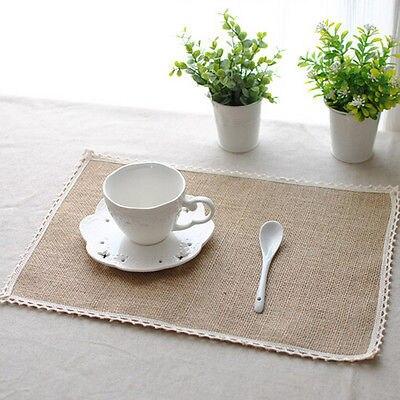 Manteles de yute, manteles de mesa Pastoral, manteles de cocina, comedor, decoración de Yute Natural, país, 1 unid/set