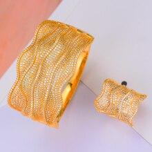 Missvikki Brincos Micro Pavimentato Cubic Zirconia di Cristallo di Tendenza Del Braccialetto Anello Set per Le Donne Da Sposa Da Sposa Fatti A Mano Gioielli di Lusso