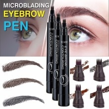 4 Heads Fork Liquid Natural Eyebrow Pen Make-Up Painting Brow Tattoo Pencil Black Brown Color Waterp