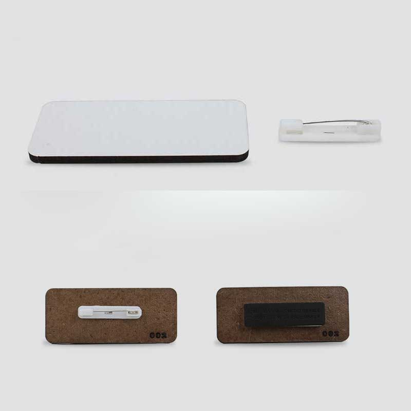 Сублимационный пустый штырь для бейджей, деревянный изготовленный на заказ знак для этикеток, горячий транфер для печати, рукоделие, магнит...